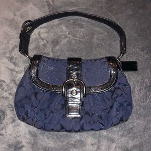 Coach purse Navy and Black
